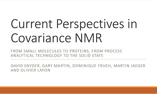 Current Perspectives in Covariance NMR
